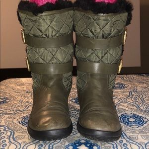 Michael kors Green Quilted Winter Boots